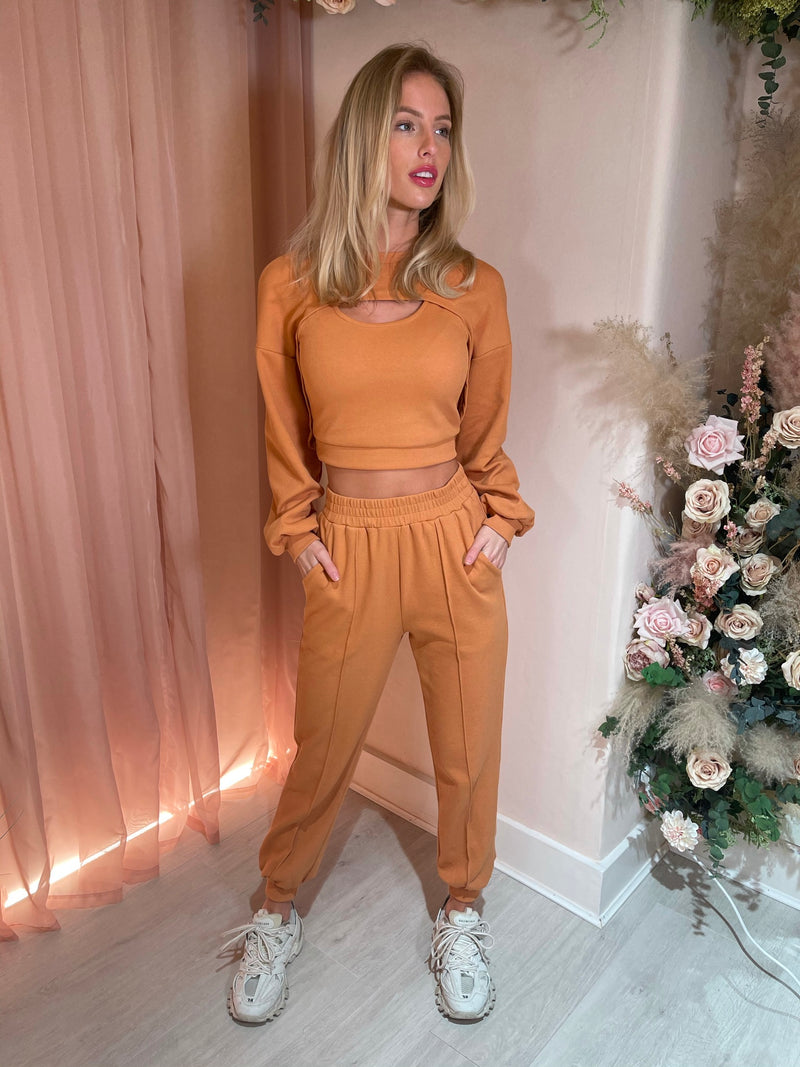 ALESSIA 3PC TRACKSUIT ORANGE