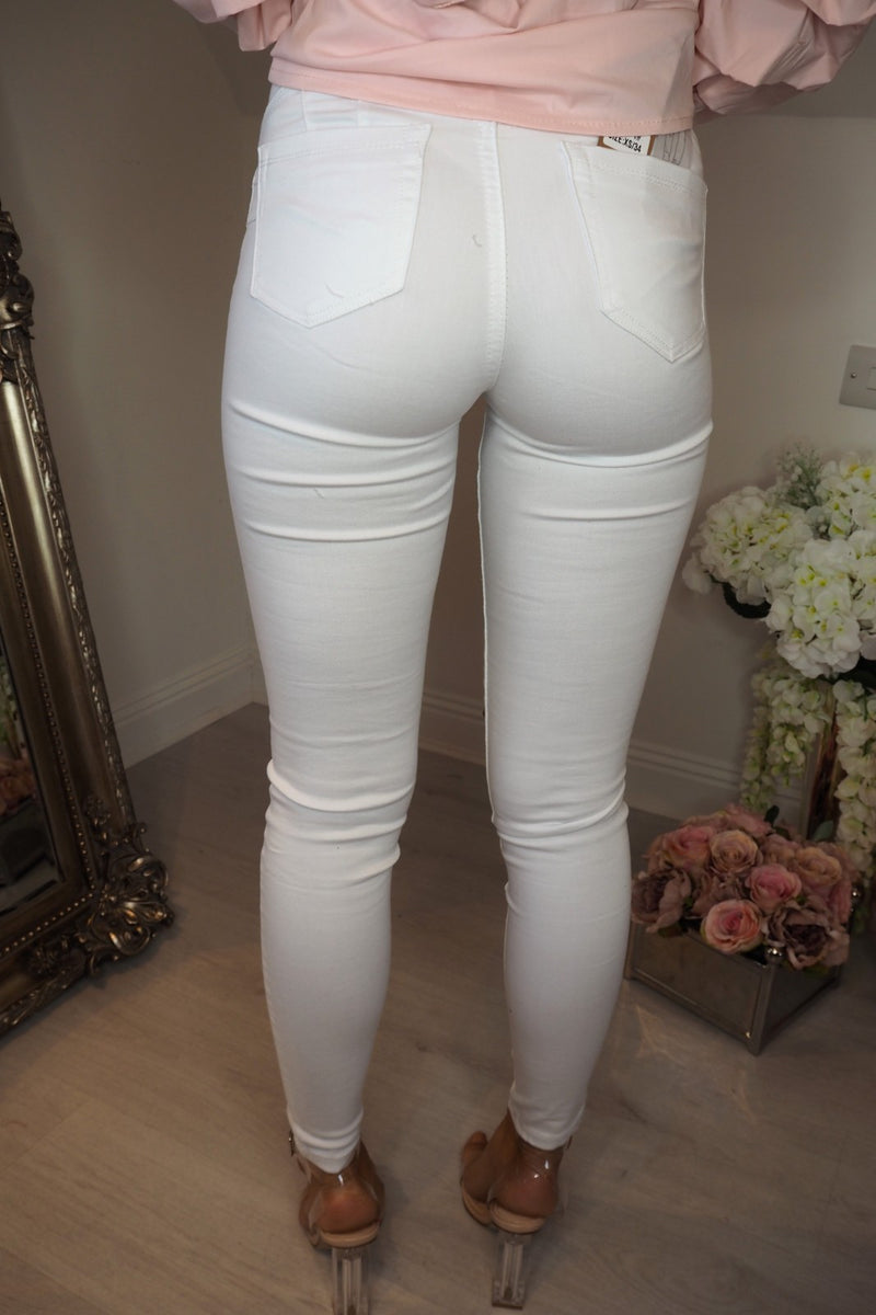 image 3 of DOWNTOWN STUDD JEANS WHITE
