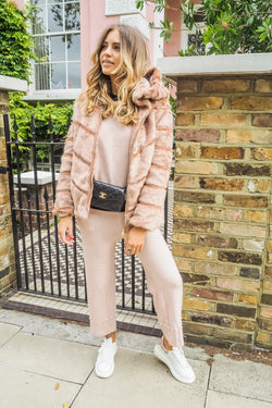 image 1 of BLUSH STREET CHIC FAUX FUR COAT