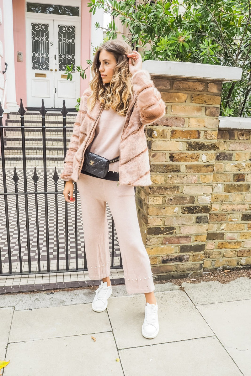 image 2 of BLUSH STREET CHIC FAUX FUR COAT