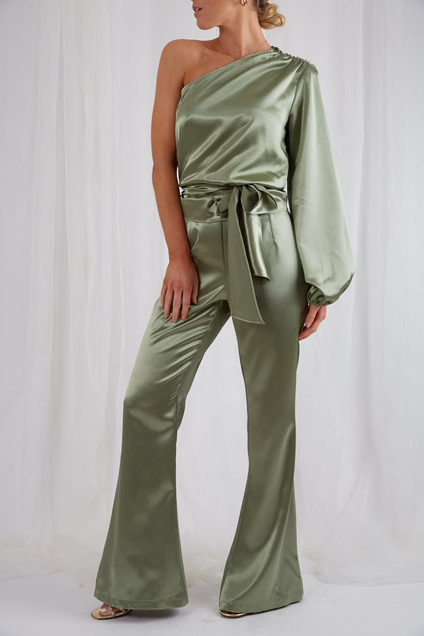 AMARI FLARED TROUSERS KHAKI