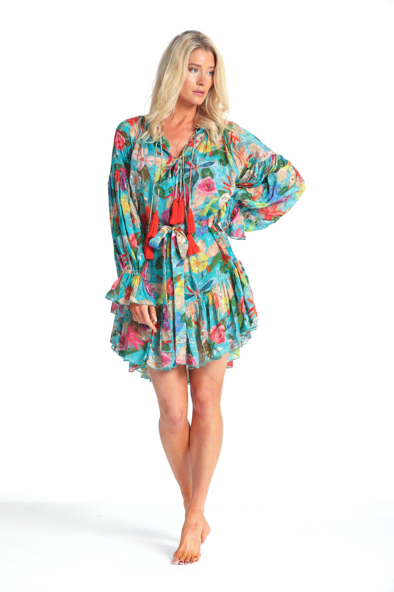 LUNA WILD SUMMER RUFFLE DRESS