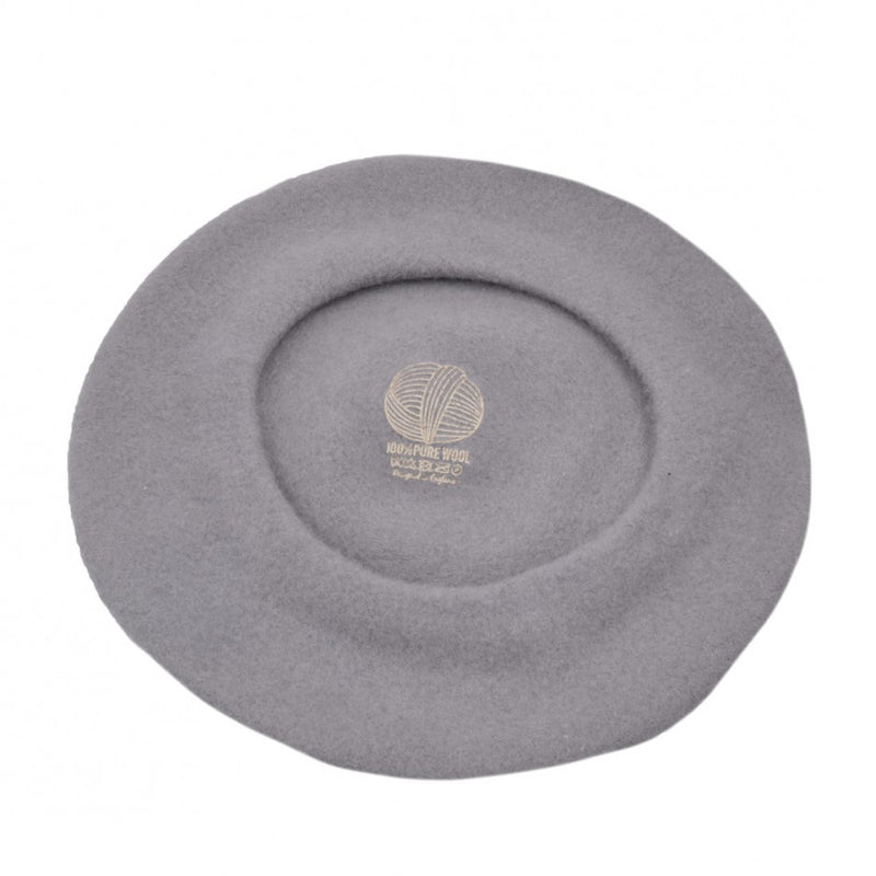image 2 of 100% Pure Wool Beret - Grey