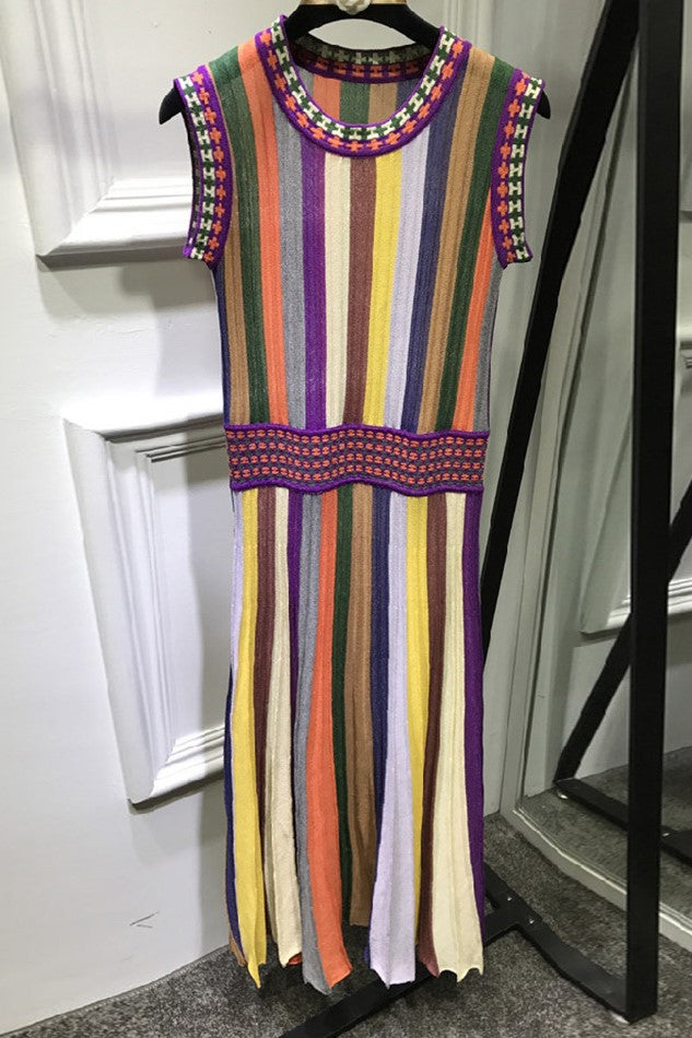 image 2 of FREE SPIRIT KNITTED RAINBOW DRESS