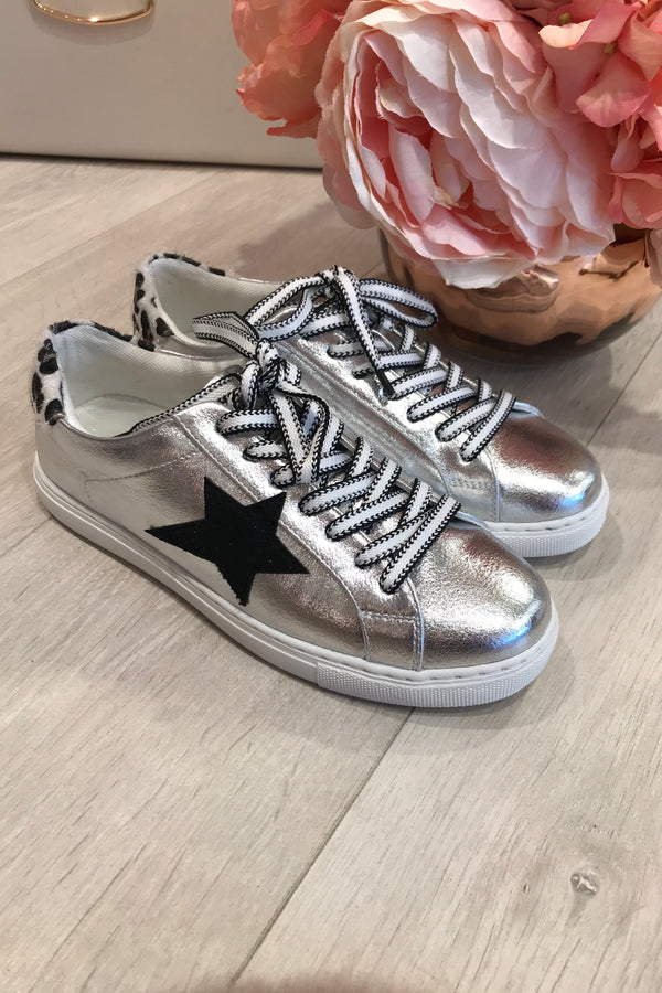SILVER/LEOPARD SUPERSTAR TRAINER