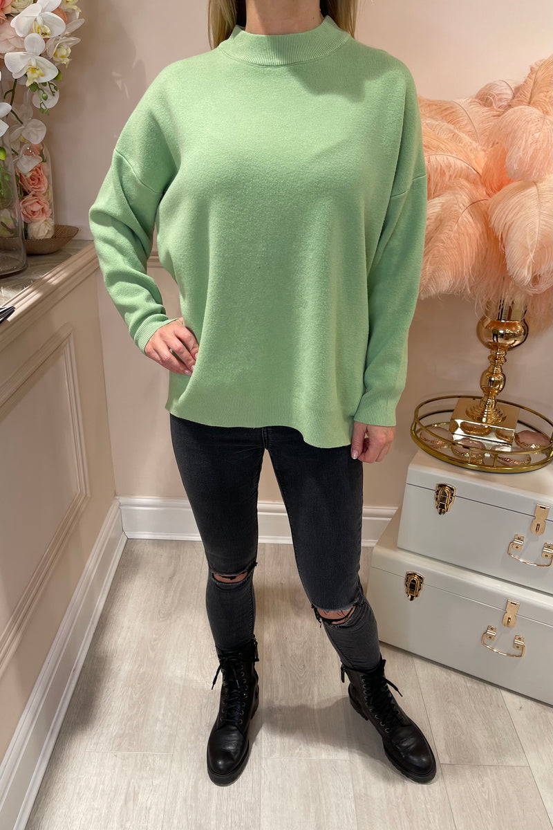 GREEN ROCK SEQUIN JUMPER