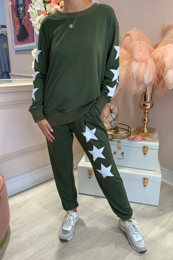 STAR SLEEVE TRACK SUIT KHAKI