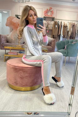 VERBIER COLOUR BLOCK TRACKSUIT GREY
