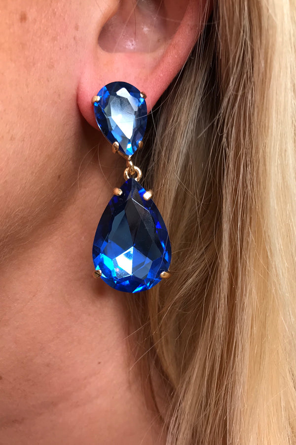 BLUE SMALL DROP EARRINGS
