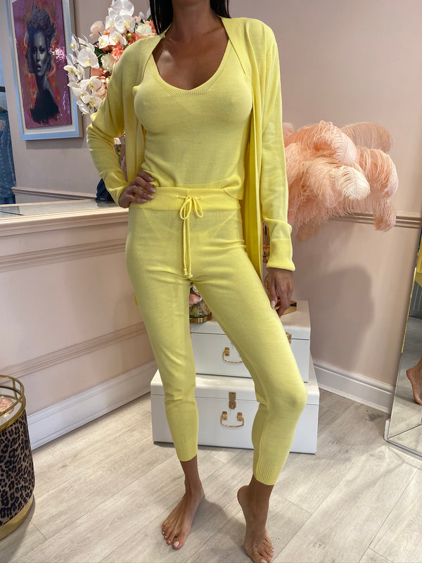 KIMMY LEMON 3 PIECE LOUNGE SET
