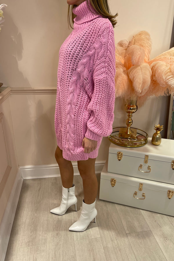 BUBBLEGUM PINK OVER SIZED JUMPER/DRESS