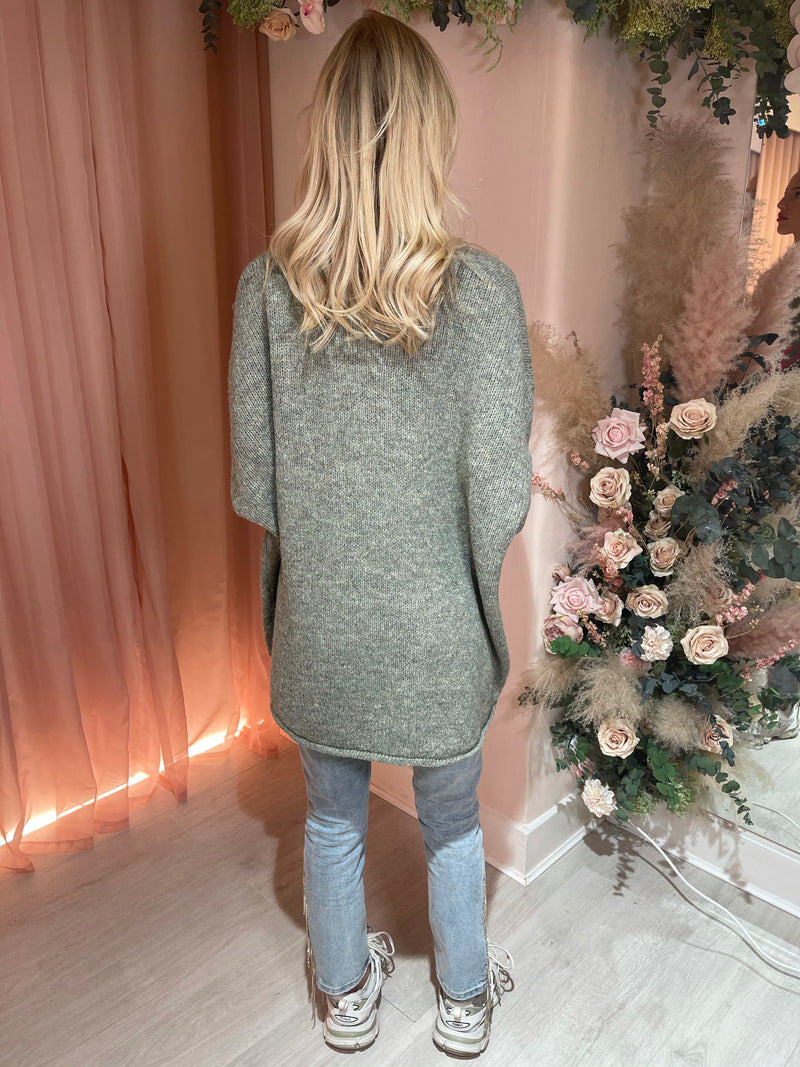 OOHLALA GREY KNITTED JUMPER