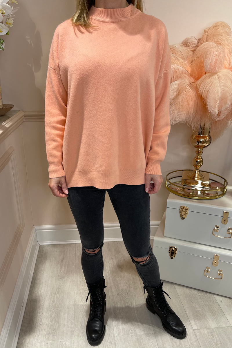 CORAL ROCK SEQUIN JUMPER