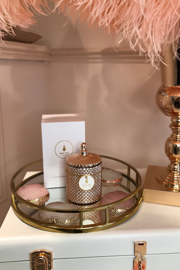 NALYS ROSE GOLD CANDLE