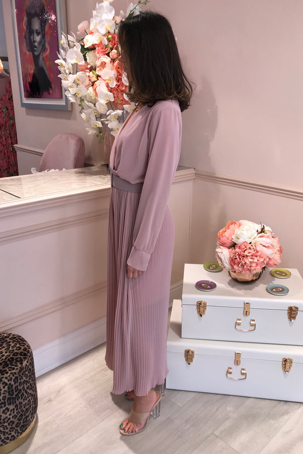 IMMI BLUSH PLEATED JUMPSUIT