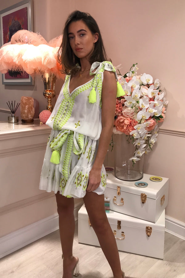 CARRIE ACAPULCO NEON LIME TUTU DRESS