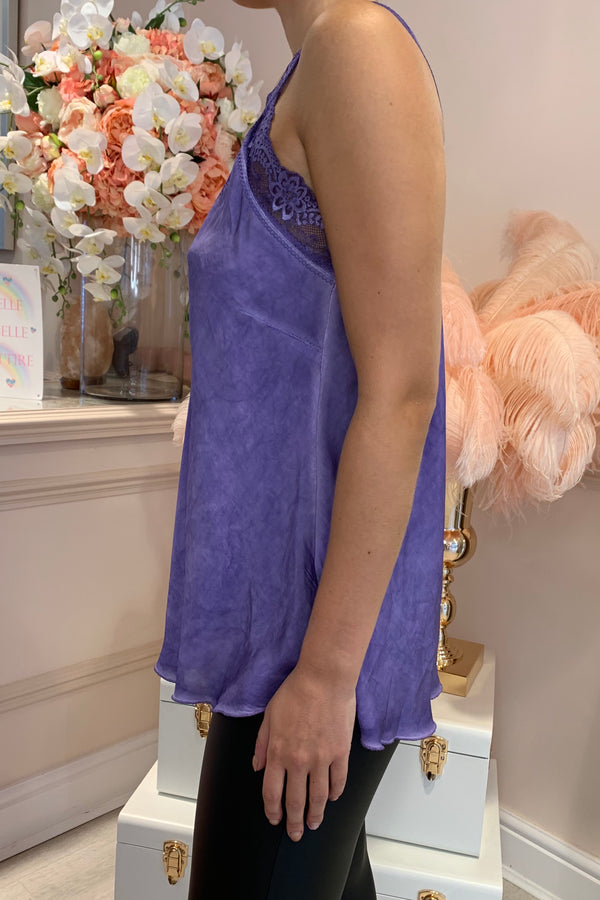LACEY PURPLE SILKY CAMI