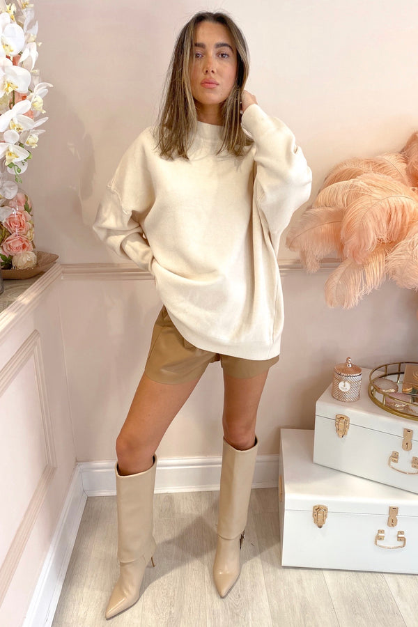 CREAM ROCK SEQUIN JUMPER