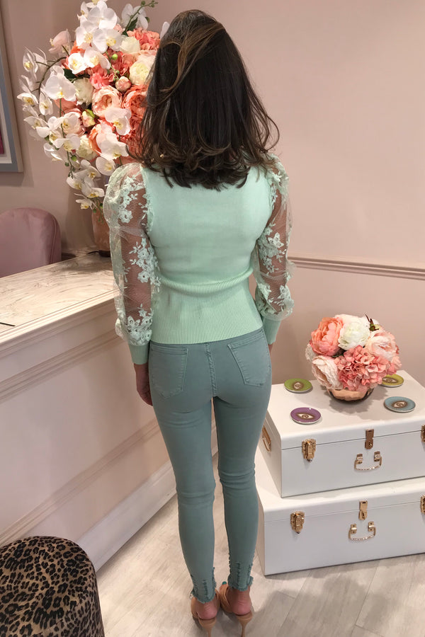 LOLA MINT KNOT FRONT TOP