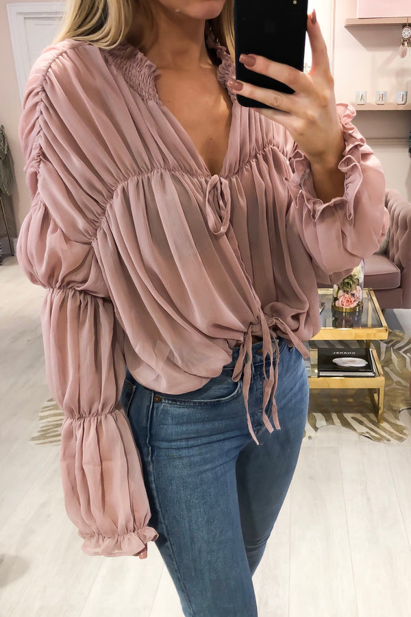 CANDY BLOUSE DUSTY PINK