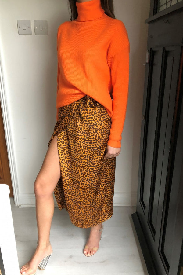 image 2 of DAISIE LEOPARD WRAP SKIRT