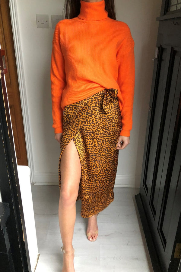 image 1 of DAISIE LEOPARD WRAP SKIRT