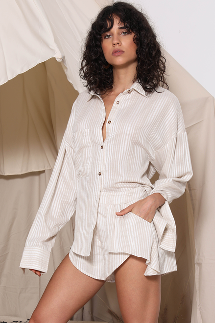 image 2 of SARAFINA LINEN SHIRT