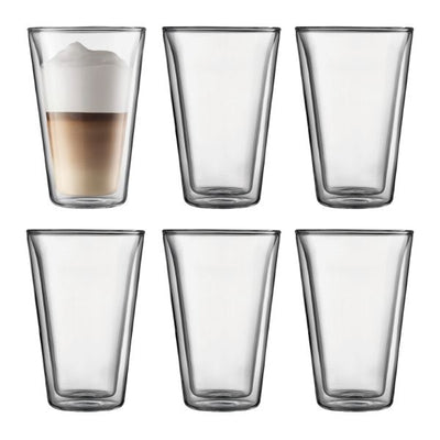 Bodum Canteen Double Wall glass 0.4L 6pk
