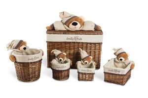 Polo the sleepy bear rectangle basket set