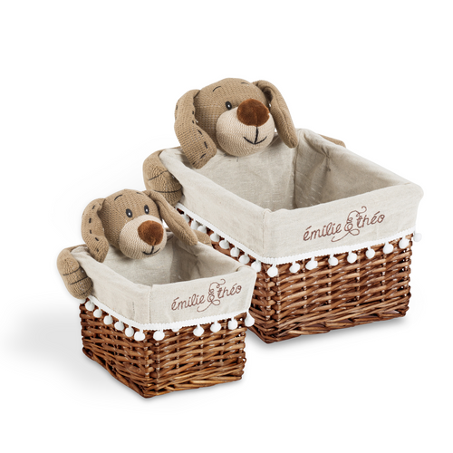 Bay the dog rectangle basket set