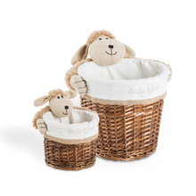 Lucile the hairy sheep round basket set