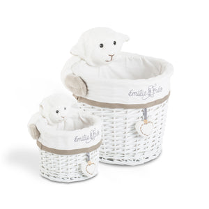 Margo the lamb round basket set
