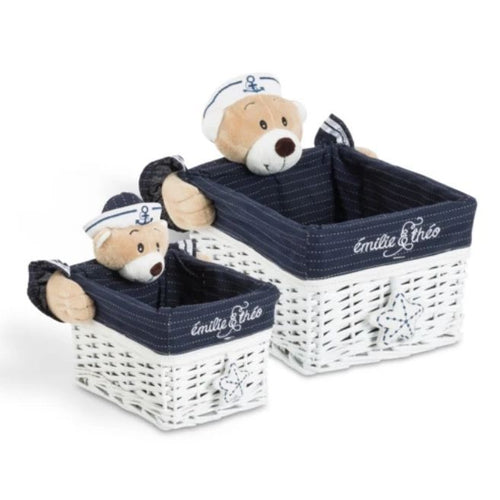 Paul the sailor bear rectangle basket set