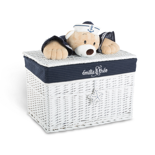 Paul the sailor bear lid basket