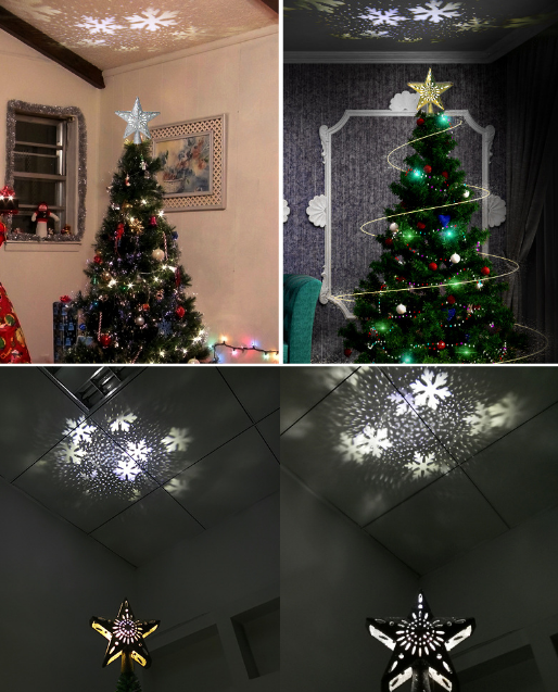 3D Hollow Star Christmas Tree Topper