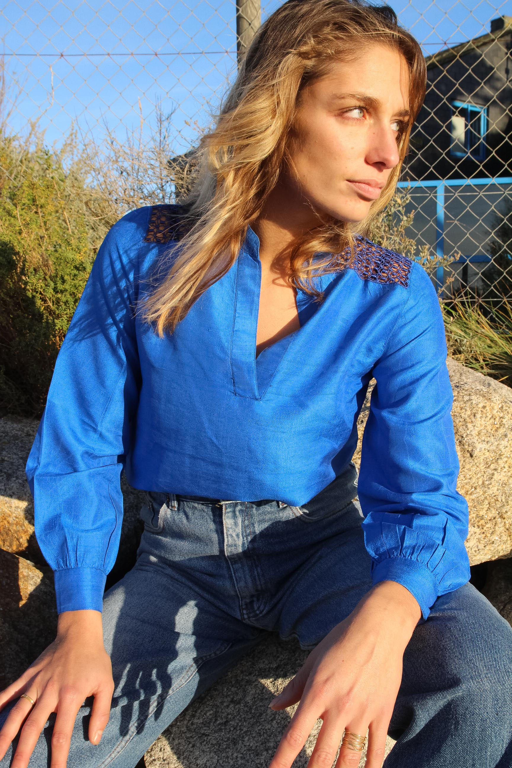SIX SABLES - Silk Shirt