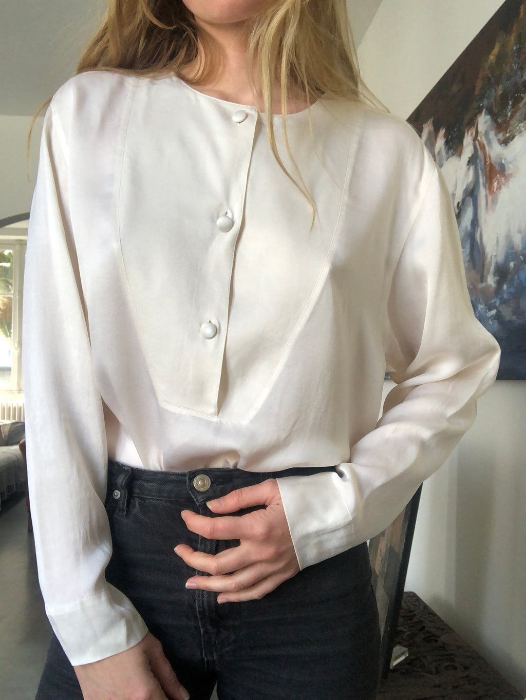 SIX SABLES - Silk Blouse Caren Pfleger