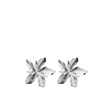 Medium Silver Floral Earring