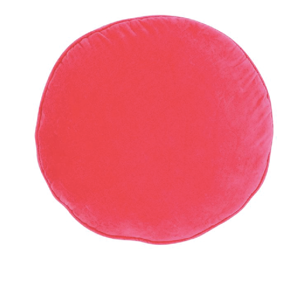Castle Penny Round Cushion - Hot Pink