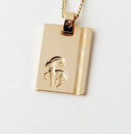 Gold Star Sign Necklace - Aries