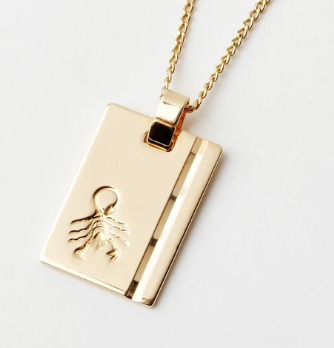 Gold Star Sign Necklace - Scorpio
