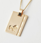 Gold Star Sign Necklace - Leo