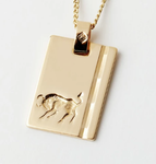 Gold Star Sign Necklace - Taurus