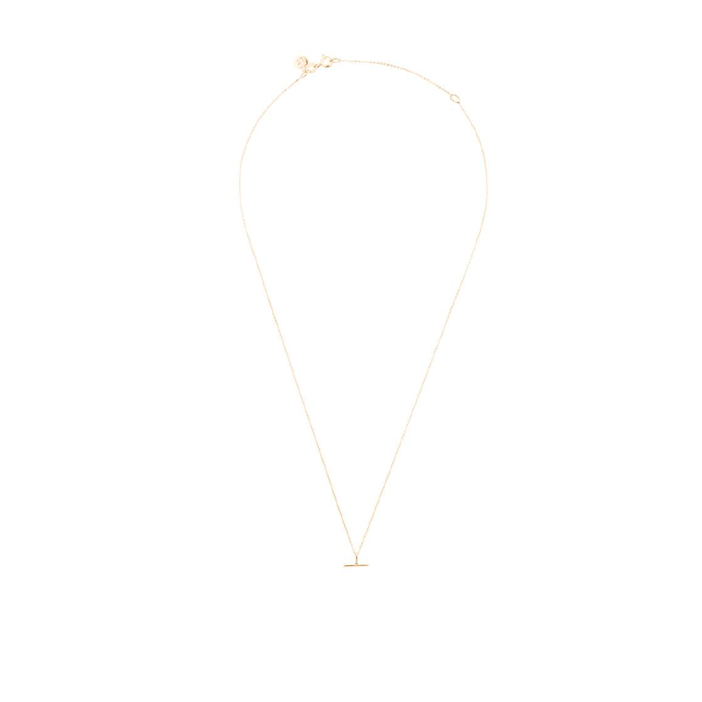 Mini T Bar Necklace - Rose Gold
