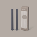Column Pillar Candle Duo  - Grey