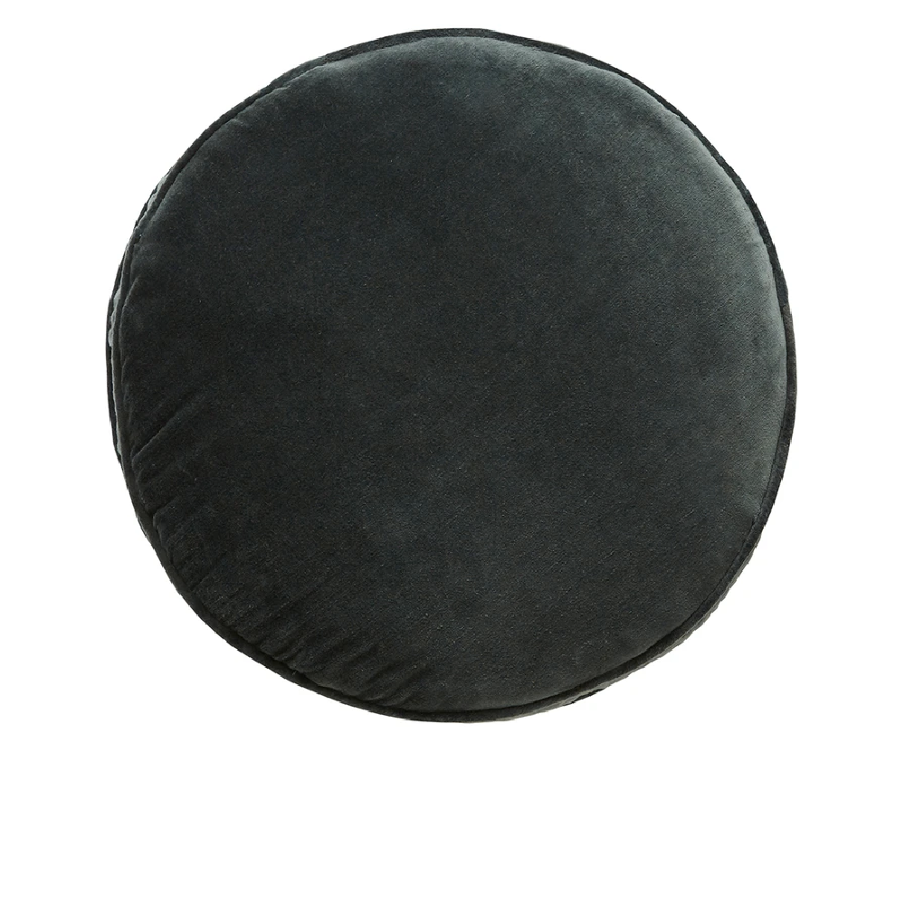CASTLE Penny Round Cushion - Charcoal