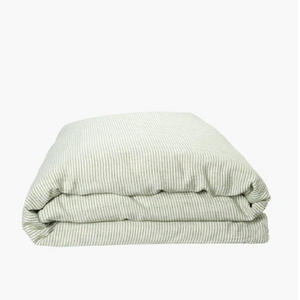 St Barts Stripe Linen Quilt Cover - Queen
