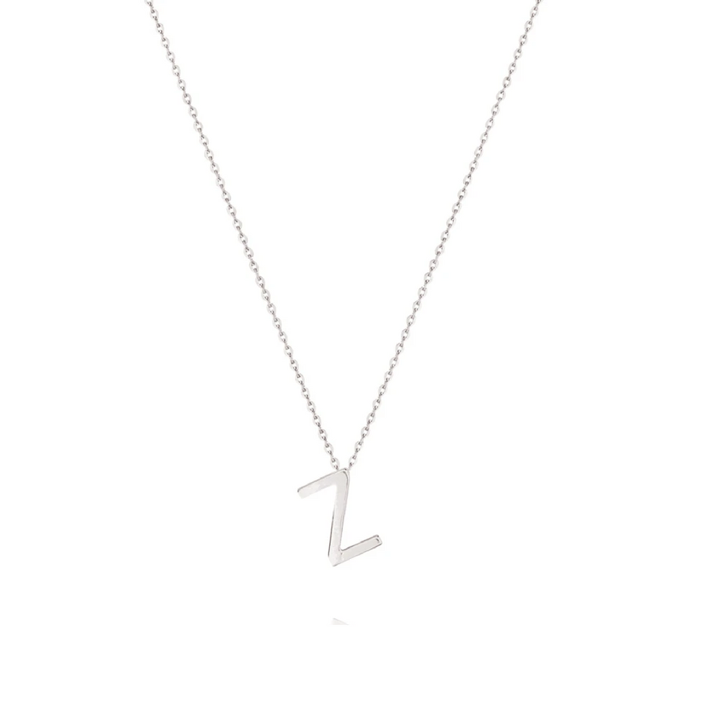 Sterling Silver Letter Necklace - Z