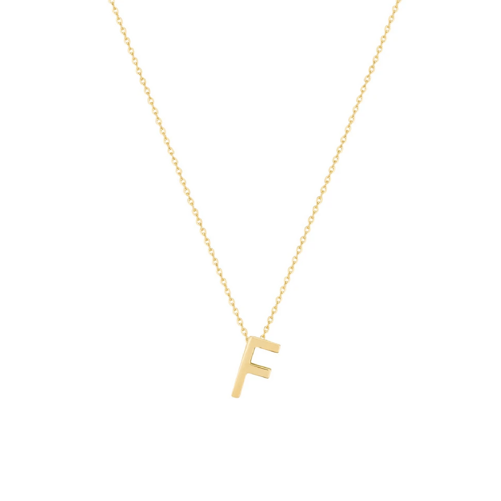 Gold Letter Necklace - F