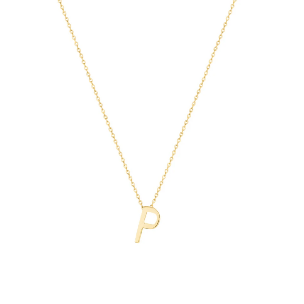 Gold Letter Necklace - P